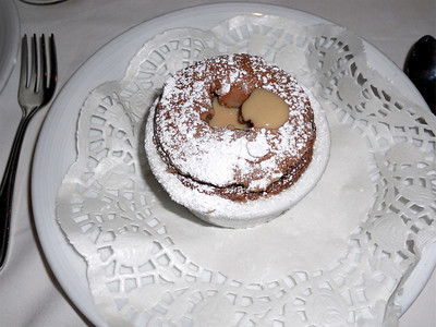 The best food ever. Chocolate souffle.