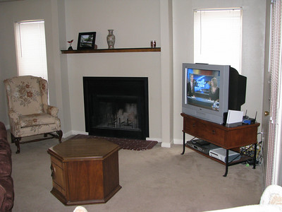 Our livingroom and fireplace.