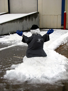 I arrived at work to find that Scott and Clif had enjoyed the snow and made a little TMT snow mover!