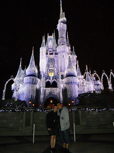 Ingrid and Elmer infront of the castle on the first night.
