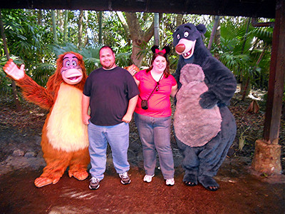 King Louie and Baloo....Louie was quite a character.