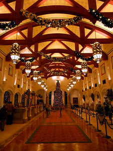 Front lobby of the Coronado Springs Resort where we stayed.