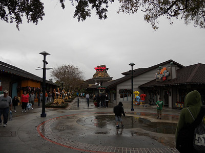 Downtown Disney in the rain!