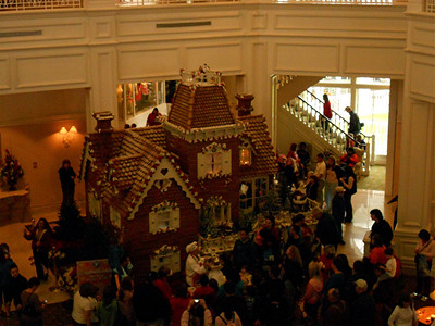 Life size gingerbread house. On the other side they operate a shop from it where they sell cookies and such.