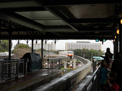 We caught a monorail from the Magic Kingdom to go visit the Grand Floridian.