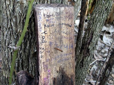 "I had this cache in my hands at one point and said ""Nope, not it!"" Well luckily right before we were about to give up Chuck said it was for sure fake and opened it up...look what we found! Signed the log...lol"