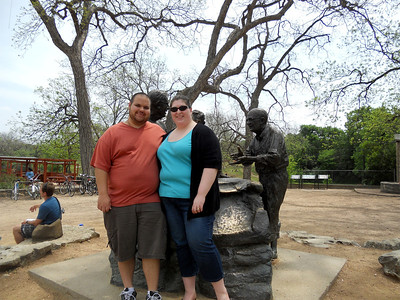 A virtual cache in Austin, TX at a natural spring. My BFF was here to take our picture!