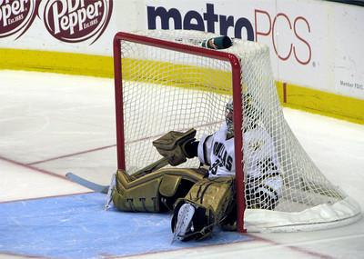 Marty in the net.