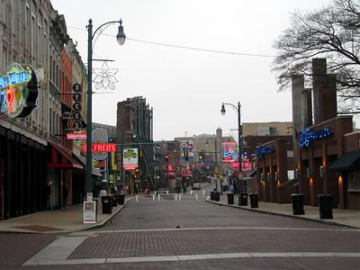 Looking down Beale Street