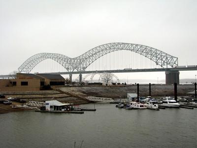 The Mississippi bridge