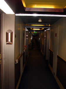 The long hallway of our deck. Thankfully we were close to the elevators.