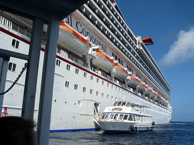 In Grand Cayman we didn't dock but were tendered. We got to ride smaller boats to the dock.