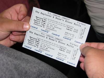 Excursion tickets!