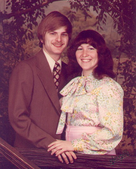 1978 - Some friends purchased an Olan Mills package and let us use a sitting. We weren't married yet. We weren't even engaged!