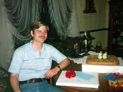 Mike and Nancy held a surprise birthday party for Larry. He was 36.