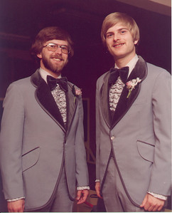 Larry with his best man, Glenn.