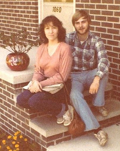 1979 outside our first apartment in North Canton. I think LaVerne must have taken this picture. It got back to us via Yon.