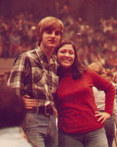 Larry and I at a Michael Stanley Band concert in Canton, Ohio. We had just met a few weeks earlier. We ran into one of his frat brothers who took this photo. 1977