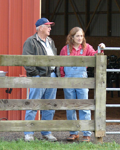 Teresa and her uncle survey for last minute preparations.