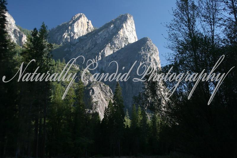 Three brothers.  Yosemite National Park, CA.