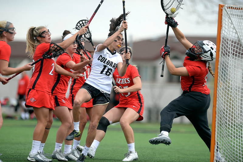 CU Buffs womens lacrosse against San Diego State