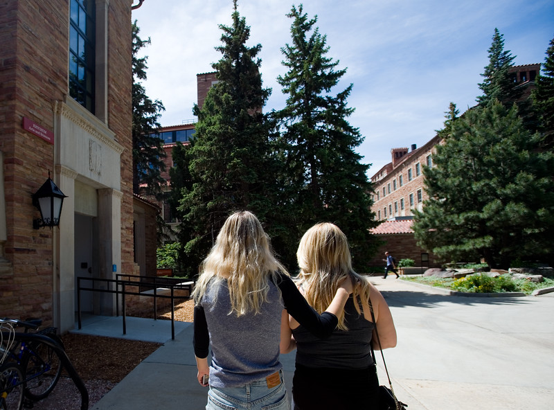 "Allana Rockwell, 19, (left) and her mother Amanda Rockwell tour CU Boulder on Friday. Rockwell will be an incoming freshmen this year and plans to study psychology. <br /> More photos:  <a href=""http://www.dailycamera.com"">http://www.dailycamera.com</a><br /> Autumn Parry/Staff Photographer<br /> June 3, 2016"