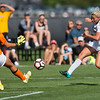 "CU's Emily Bruder attempts to score against CSU during the soccer game at Prentup Field at CU Boulder on Sunday. CU Boulder defeated CSU 2-1.<br /> More photos:  <a href=""http://www.buffzone.com"">http://www.buffzone.com</a><br /> (Autumn Parry/Staff Photographer)<br /> August 21, 2016"