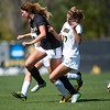 "Iowa's Hannah Drkulec and CU's Joss Orejel run into each other while going after the ball during the game at Prentup Field at CU Boulder on Sunday. CU defeated Iowa 4-1.<br /> More photos:  <a href=""http://www.buffzone.com"">http://www.buffzone.com</a><br /> (Autumn Parry/Staff Photographer)<br /> September 11, 2016"