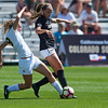 "Iowa's Jenna Kentgen and  CU's Sarah Kinzner fight for possession of the ball during the game at Prentup Field at CU Boulder on Sunday. CU defeated Iowa 4-1.<br /> More photos:  <a href=""http://www.buffzone.com"">http://www.buffzone.com</a><br /> (Autumn Parry/Staff Photographer)<br /> September 11, 2016"
