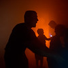 """Lieutenant Matt Zavala takes kids through a theater smoke-filled room, which simulates what it's like to enter a burning building, and teaches them how to use a thermal imaging camera to see gradients in heat, during Camp Boulder Fire at the Boulder Wildland Fire Training Center on Thursday. <br /> More photos:  <a href=""""http://www.dailycamera.com"""">http://www.dailycamera.com</a><br /> (Autumn Parry/Staff Photographer)<br /> June 9, 2016"""