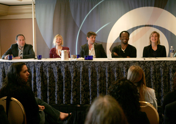 "2007 Winter Television Critics Association Press Tour for CBS.<br /> January 18, 2007: Actor Skeet Ulrich of ""Jericho"" speaks during the 2007 Winter Television Critics Association Press Tour for CBS at the Ritz-Carlton Huntington Hotel in Pasadena, California."