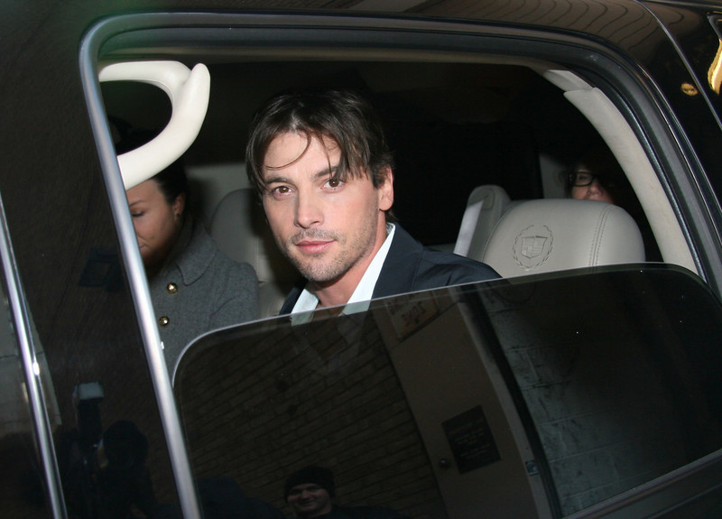 Leaving ABC Studios<br /> March 11, 2008: After appearing on 'Live with Regis and Kelly' New York City, USA