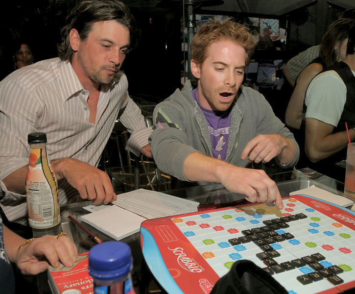 "HQ Courtesy of Scrabble! Credit: Sullivan/WireImage<br /> June 12, 2008: The Goldstein Estate in Beverly Hills,CA<br /> St. Jude's ""Scrabble Under the Stars"""