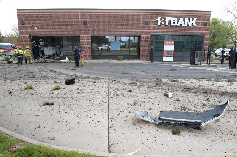 CAR CRASHES INTO BANK