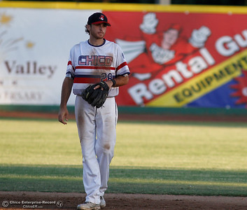 Chico Heat's Grant Heisinger during a baseball game against the Medford Rogues at Chico Heat July 6, 2016 at Nettleton Stadium in Chico, Calif. (Emily Bertolino -- Enterprise-Record)