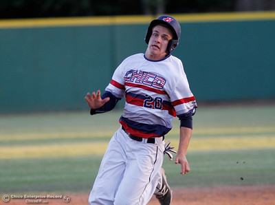 Jonathan Frost during a baseball game of Medford Rogues at Chico Heat July 6, 2016 at Nettleton Stadium in Chico, Calif. (Emily Bertolino -- Enterprise-Record)