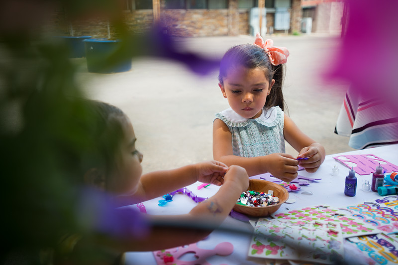 "Emma Rodas, 4, (right) works on creating her own princess crown with her sister Sophie Rodas, 3, during the Children's Teddy Bear Tea Party, as part of the 16th annual Rocky Mountain Tea Festival at the Dushanbe Teahouse in Boulder on Sunday.<br /> More photos:  <a href=""http://www.dailycamera.com"">http://www.dailycamera.com</a><br /> (Autumn Parry/Staff Photographer)<br /> July 31, 2016"