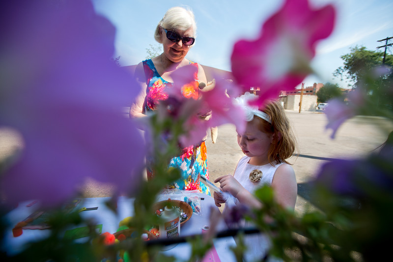 "Betty Kelly watches as her granddaughter Isla Kelly, 5, works on an craft during the Children's Teddy Bear Tea Party, as part of the 16th annual Rocky Mountain Tea Festival at the Dushanbe Teahouse in Boulder on Sunday.<br /> More photos:  <a href=""http://www.dailycamera.com"">http://www.dailycamera.com</a><br /> (Autumn Parry/Staff Photographer)<br /> July 31, 2016"