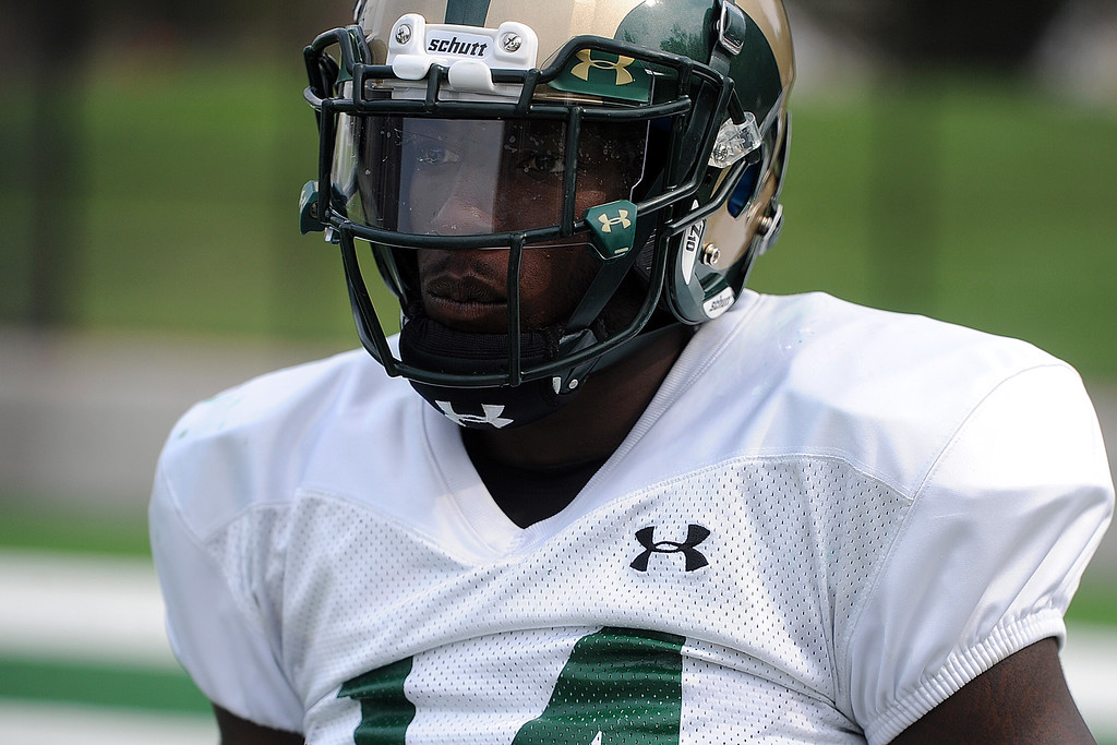 . Colorado State cornerback Anthony Hawkins during practice Thursday, August 2, 2018 in Fort Collins, Colorado. (Sean Star/Loveland Reporter-Herald)