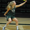 Sophomore Nathalie Linden works on a defensive drill during a recent practice at Moby Arena in Fort Collins.