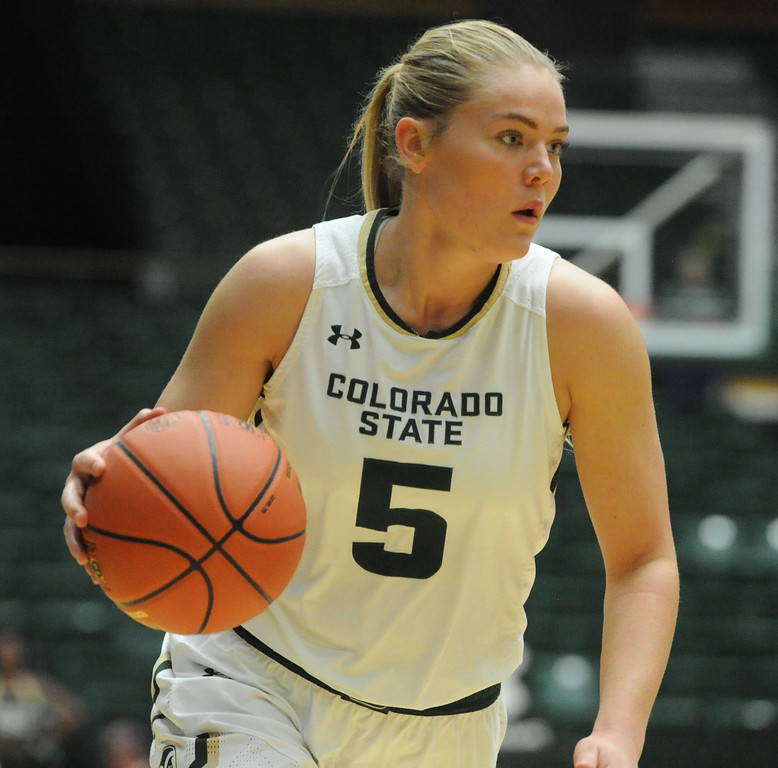 Colorado State's Sofie Tryggedsson drives against Morgan State on Thursday at Moby Arena. (Sean Star/Loveland Reporter-Herald)