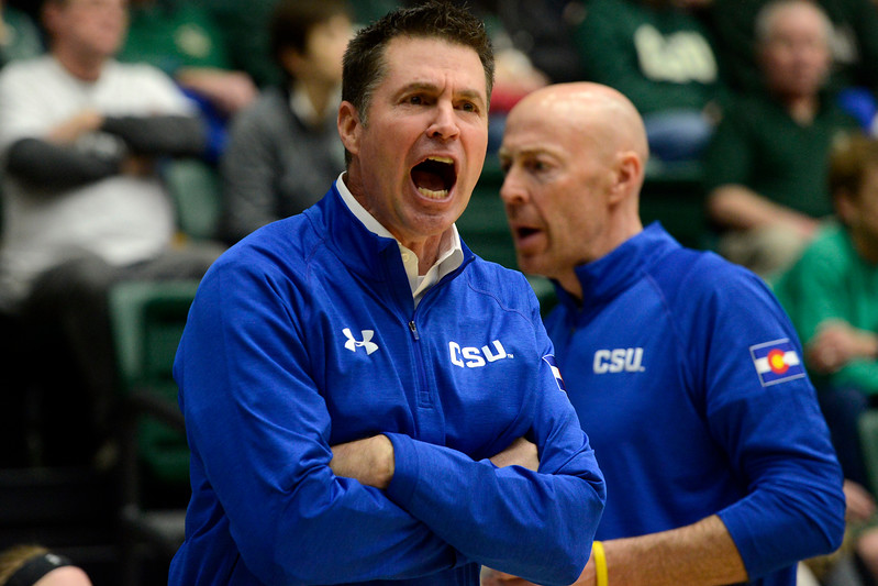 Colorado State women's basketball coach Ryun Williams tied Tom Collen for the most wins by a coach in program history on Saturday. (Sean Star/Loveland Reporter-Herald)