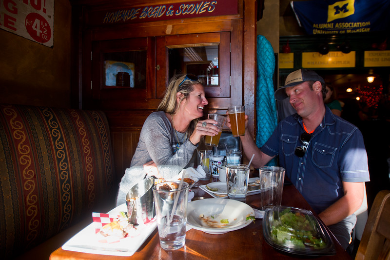 "Heidi and Rob Bodam share a beer at Conor O'Neill's Irish Pub in Boulder on Sunday. The pub announced they're closing next Sunday, after 17 years in business. <br /> More photos:  <a href=""http://www.dailycamera.com"">http://www.dailycamera.com</a><br /> (Autumn Parry/Staff Photographer)<br /> September 25, 2016"
