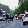 "Responders investigate the scene of a fatal hit-and-run crash involving a cyclist at Jay Road and 30th Street on Saturday.<br /> More photos:  <a href=""http://www.dailycamera.com"">http://www.dailycamera.com</a><br /> (Autumn Parry/Staff Photographer)<br /> June 25, 2016"