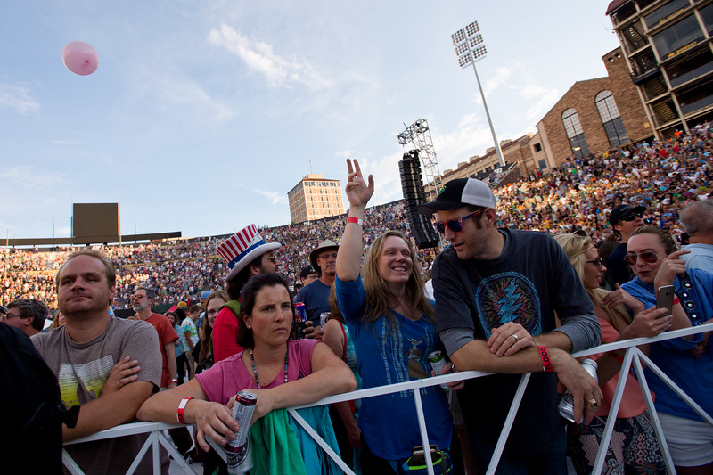 """Fans attend the Dead & Company concert at the University of Colorado's Folsom Field in Boulder on Saturday.<br /> More photos:  <a href=""""http://www.dailycamera.com"""">http://www.dailycamera.com</a><br /> (Autumn Parry/Staff Photographer)<br /> July 2, 2016"""