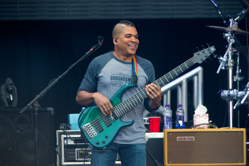 """Oteil Burbridge, with Dead & Company, performs at the University of Colorado's Folsom Field in Boulder on Saturday.<br /> More photos:  <a href=""""http://www.dailycamera.com"""">http://www.dailycamera.com</a><br /> (Autumn Parry/Staff Photographer)<br /> July 2, 2016"""