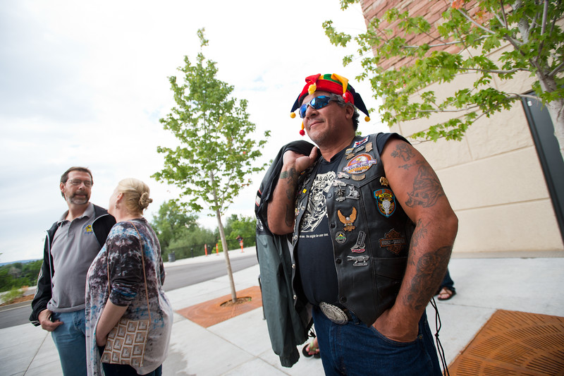 """Jorge Lugo, from New Mexico, waits in line for the Dead & Company concert at the University of Colorado's Folsom Field in Boulder on Saturday.<br /> More photos:  <a href=""""http://www.dailycamera.com"""">http://www.dailycamera.com</a><br /> (Autumn Parry/Staff Photographer)<br /> July 2, 2016"""