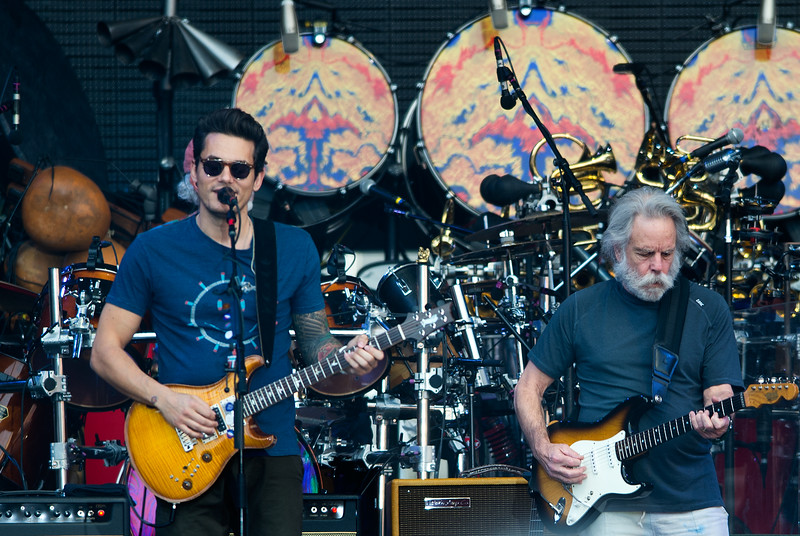"""John Mayer and Bob Weir, with Dead & Company, perform at the University of Colorado's Folsom Field in Boulder on Saturday.<br /> More photos:  <a href=""""http://www.dailycamera.com"""">http://www.dailycamera.com</a><br /> (Autumn Parry/Staff Photographer)<br /> July 2, 2016"""