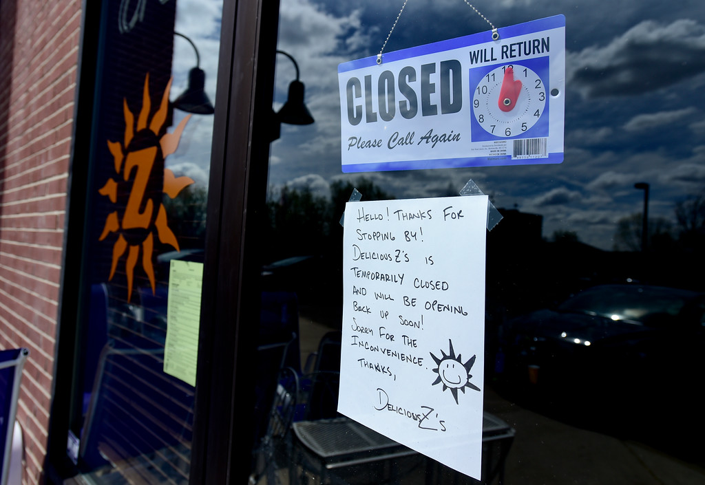 . A hand written closed sign is seen on the door to Deli-Cious Z\'s. After being open for less than two days, they had to close due to a billing error by XCEL. It will take at least another day to restock food. More photos: DailyCamera.com. Matthew Jonas/Staff Photographer April 20,  2017