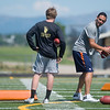 "Denver Broncos quarterback Mark Sanchez coaches Monarch's quarterback Jonston MacIntyre during the East County Football Camp at Monarch High School on Saturday. <br /> More photos:  <a href=""http://www.BoCoPreps.com"">http://www.BoCoPreps.com</a><br /> (Autumn Parry/Staff Photographer)<br /> June 11, 2016"